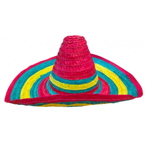 Mexican Sombrero Multicoloured - The Costume Company | Fancy Dress Costumes Hire and Purchase Brisbane and Australia