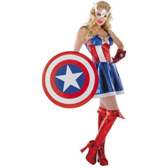 Miss Captain America Costume - Hire - The Costume Company | Fancy Dress Costumes Hire and Purchase Brisbane and Australia
