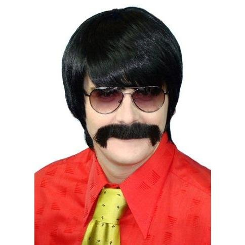 Mod Black 70s Style Wig - The Costume Company | Fancy Dress Costumes Hire and Purchase Brisbane and Australia
