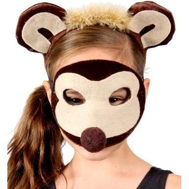 Monkey - Headband and Mask Set - The Costume Company | Fancy Dress Costumes Hire and Purchase Brisbane and Australia