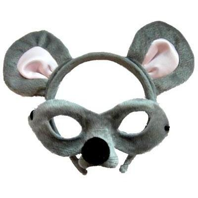 Mouse - Headband and Mask Set - The Costume Company | Fancy Dress Costumes Hire and Purchase Brisbane and Australia