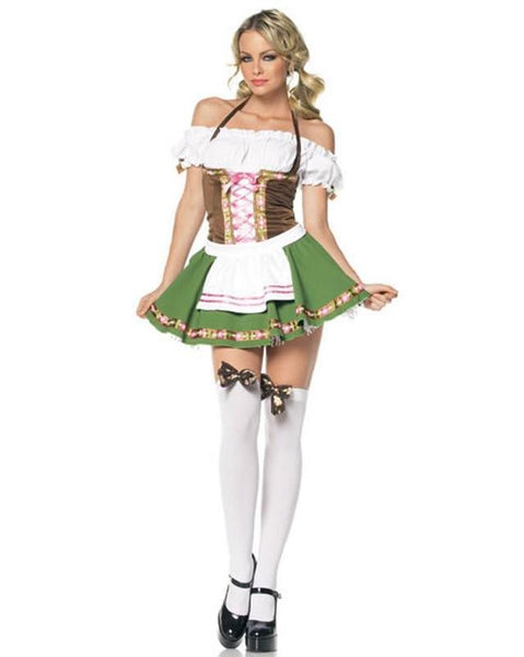 Oktoberfest Dirndl Green German Girl Costume - Hire - The Costume Company | Fancy Dress Costumes Hire and Purchase Brisbane and Australia