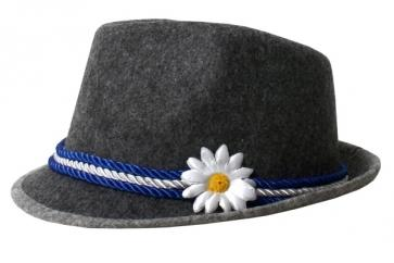 Oktoberfest - German Grey Costume Hat with Flower - The Costume Company | Fancy Dress Costumes Hire and Purchase Brisbane and Australia