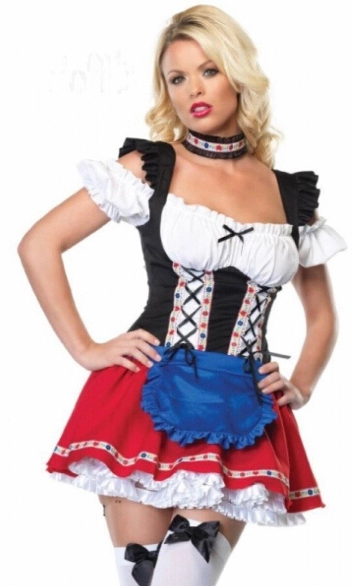 Oktoberfest Red Beer Girl - Plus Sizes Available 8 to 22 - The Costume Company | Fancy Dress Costumes Hire and Purchase Brisbane and Australia