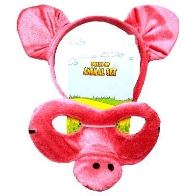 Pig - Headband and Mask Set - The Costume Company | Fancy Dress Costumes Hire and Purchase Brisbane and Australia