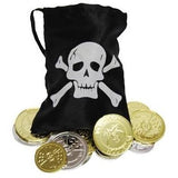 Pirate Coins and Treasure Pouch - The Costume Company | Fancy Dress Costumes Hire and Purchase Brisbane and Australia