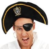 Pirate Hat wit Skull and Bones Emblem - The Costume Company | Fancy Dress Costumes Hire and Purchase Brisbane and Australia