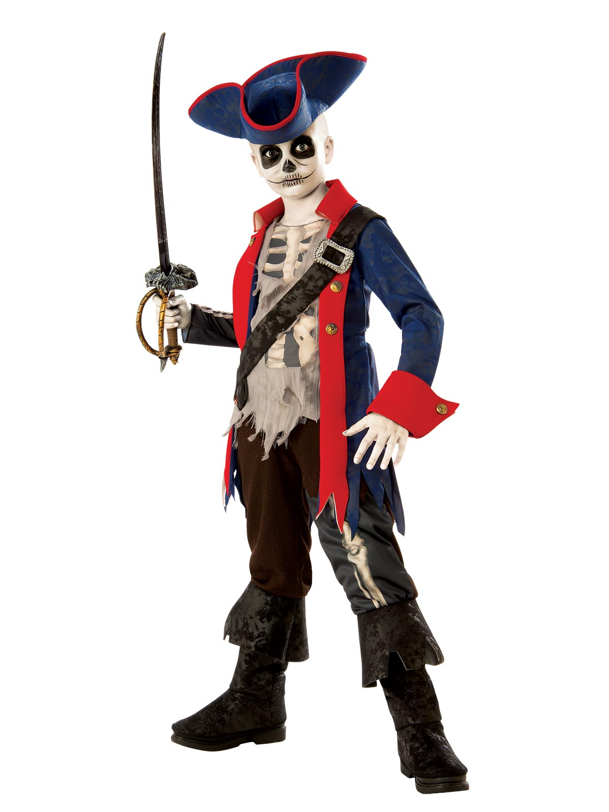 Captain Bones Pirate Costume Child - Buy Online Only