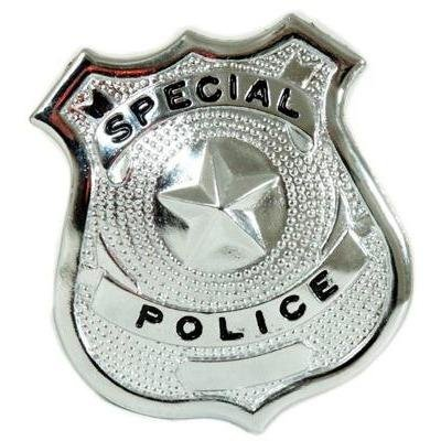 Police Badge Silver Special - Metal - The Costume Company | Fancy Dress Costumes Hire and Purchase Brisbane and Australia