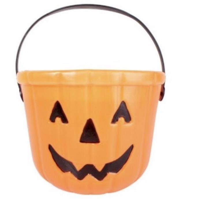 Pumpkin Trick or Treat Bucket - The Costume Company | Fancy Dress Costumes Hire and Purchase Brisbane and Australia