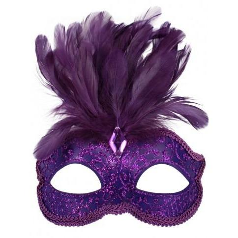 Purple Daniella Masquerade Mask - The Costume Company | Fancy Dress Costumes Hire and Purchase Brisbane and Australia