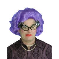 Purple Rinse Edna Style Wig - The Costume Company | Fancy Dress Costumes Hire and Purchase Brisbane and Australia