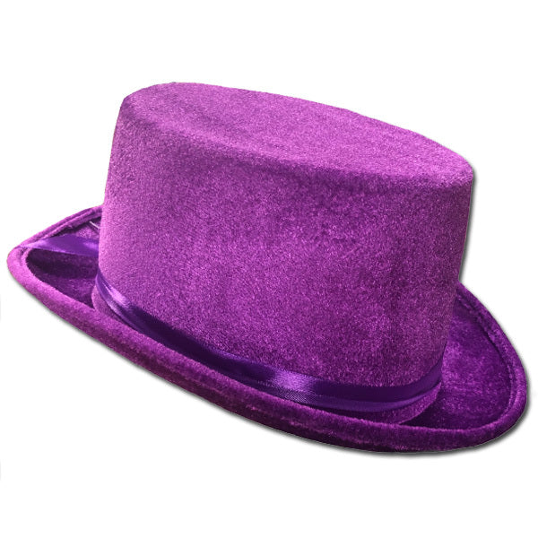 Purple Velvet Top Hat