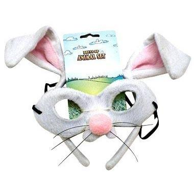 Rabbit - Headband and Mask Set - The Costume Company | Fancy Dress Costumes Hire and Purchase Brisbane and Australia
