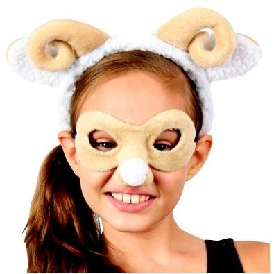 Ram (sheep) - Headband and Mask Set - The Costume Company | Fancy Dress Costumes Hire and Purchase Brisbane and Australia