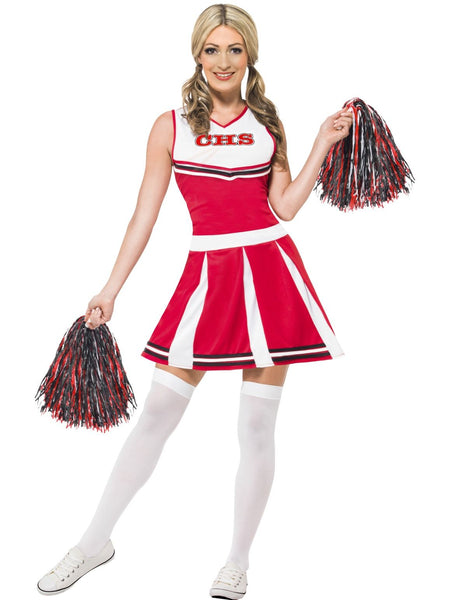 Cheerleader Red Costume - Buy Online Only