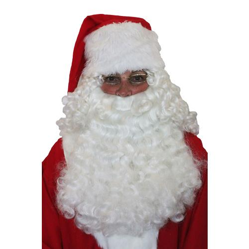 Santa Half Wig and Beard Set - The Costume Company | Fancy Dress Costumes Hire and Purchase Brisbane and Australia