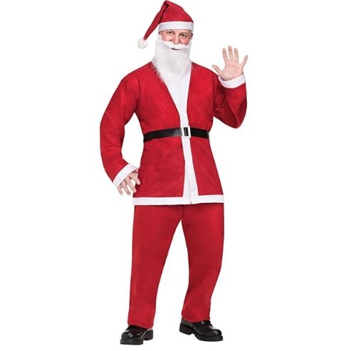 Santa Suit Easy to Wear - The Costume Company | Fancy Dress Costumes Hire and Purchase Brisbane and Australia