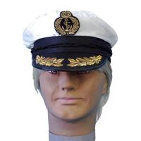 Satin Ship Captain Hat - The Costume Company | Fancy Dress Costumes Hire and Purchase Brisbane and Australia