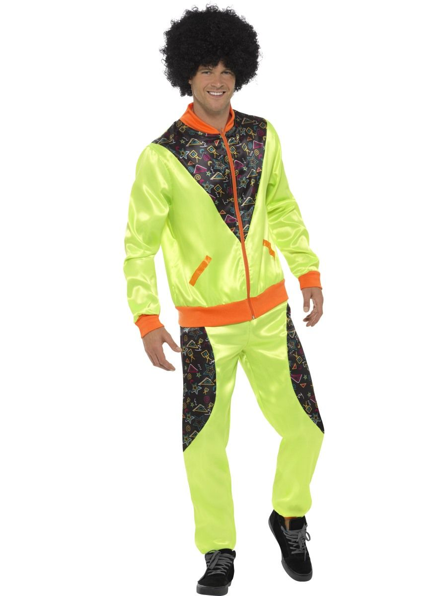 Shell Suit 80s Height of Fashion Neon Green and Black Tracksuit - Buy