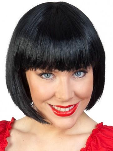 Short Black Bob Wig - The Costume Company | Fancy Dress Costumes Hire and Purchase Brisbane and Australia