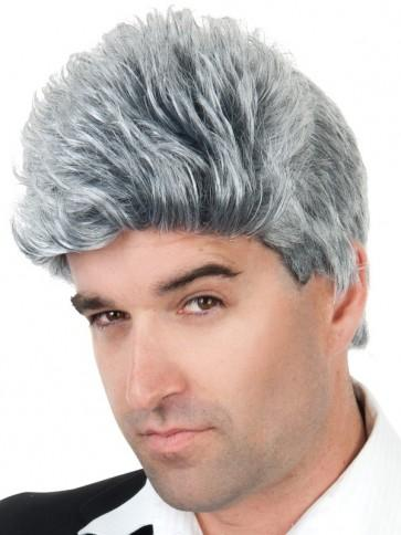 Short Mid Life Grey Wig - The Costume Company | Fancy Dress Costumes Hire and Purchase Brisbane and Australia