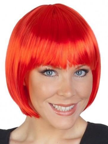 Short Red Bob Wig - The Costume Company | Fancy Dress Costumes Hire and Purchase Brisbane and Australia