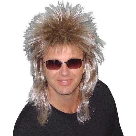 Spiky (Poita) 80's Mullet Wig - The Costume Company | Fancy Dress Costumes Hire and Purchase Brisbane and Australia