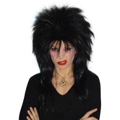 Spiky Vamp Black Wig - The Costume Company | Fancy Dress Costumes Hire and Purchase Brisbane and Australia