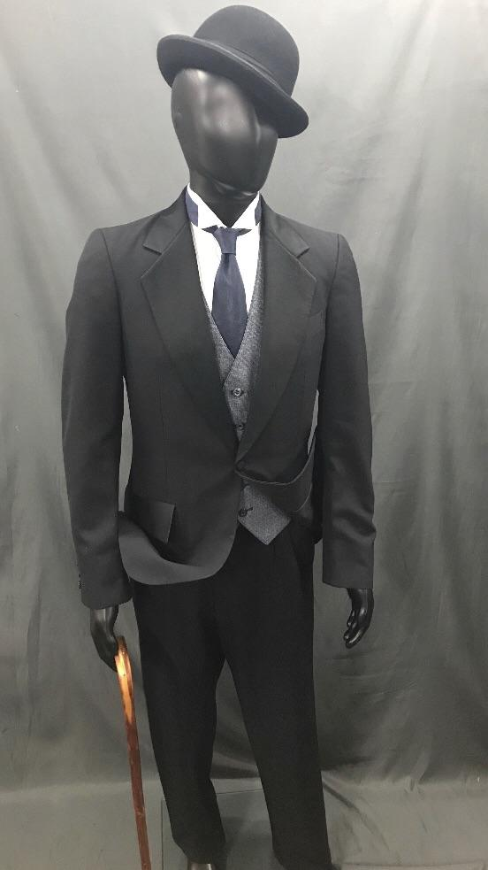 Suit Black and Grey - Hire - The Costume Company | Fancy Dress Costumes Hire and Purchase Brisbane and Australia