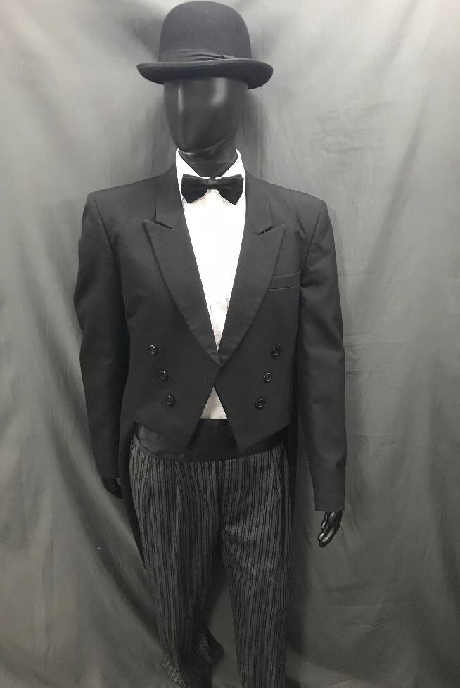 Suit Black and Grey Tails - Hire - The Costume Company | Fancy Dress Costumes Hire and Purchase Brisbane and Australia