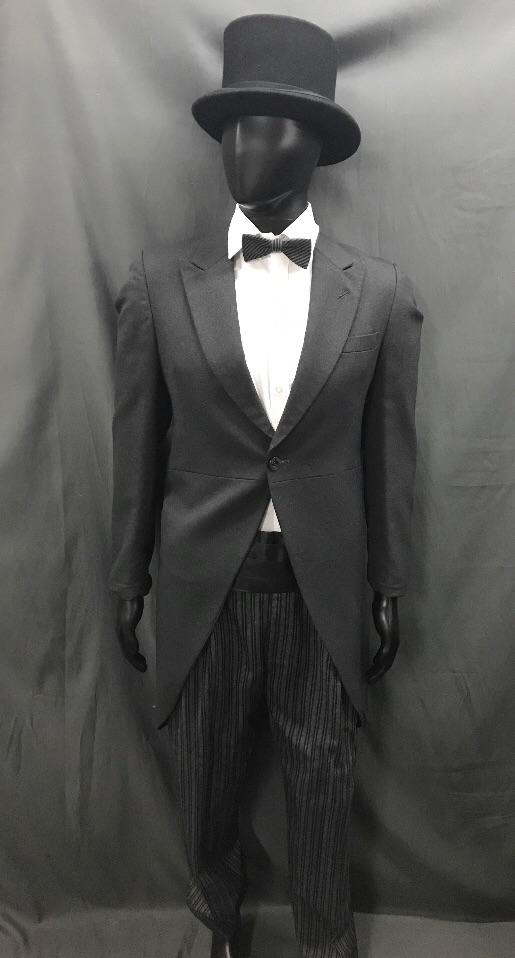 Suit Black and Grey with Top Hat - Hire - The Costume Company | Fancy Dress Costumes Hire and Purchase Brisbane and Australia