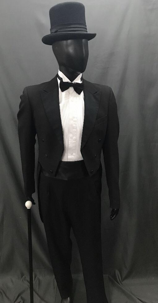 Suit Black Tails - Hire - The Costume Company | Fancy Dress Costumes Hire and Purchase Brisbane and Australia
