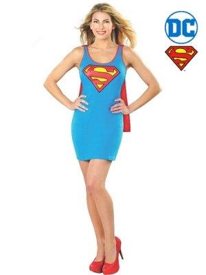 Supergirl Tank Dress Light Blue - Buy Online Only - The Costume Company | Australian & Family Owned