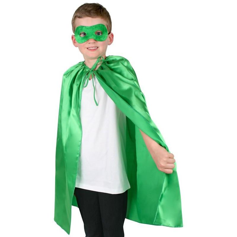 Superhero Cape and Mask Green Set - The Costume Company | Fancy Dress Costumes Hire and Purchase Brisbane and Australia