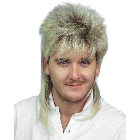 Two Tone Mullet 80s Wig - The Costume Company | Fancy Dress Costumes Hire and Purchase Brisbane and Australia