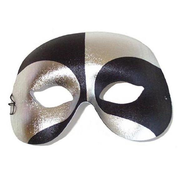 Voodoo Black and Silver Masquerade Mask - The Costume Company | Fancy Dress Costumes Hire and Purchase Brisbane and Australia