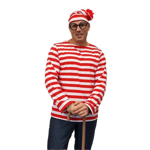 Where's Wallace Adult - The Costume Company | Fancy Dress Costumes Hire and Purchase Brisbane and Australia