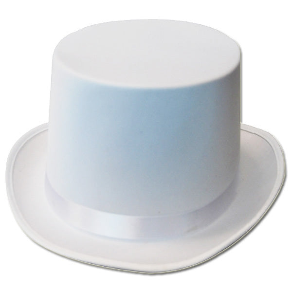 Top Hat White Satin