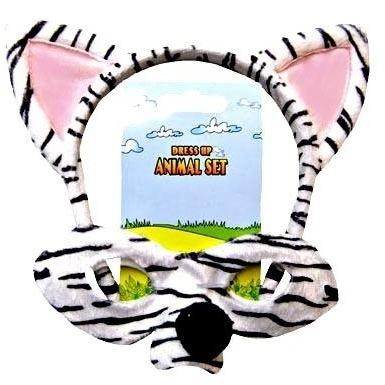 Zebra - Headband and Mask Set - The Costume Company | Fancy Dress Costumes Hire and Purchase Brisbane and Australia