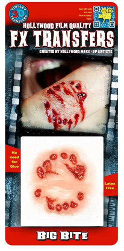 Zombie Bite 3D Transfers - Buy Online Only