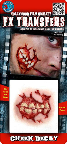 Zombie Cheek Decay 3D Transfers - Buy Online Only
