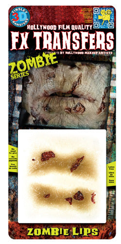 Zombie Lips 3D Transfers - Buy Online Only