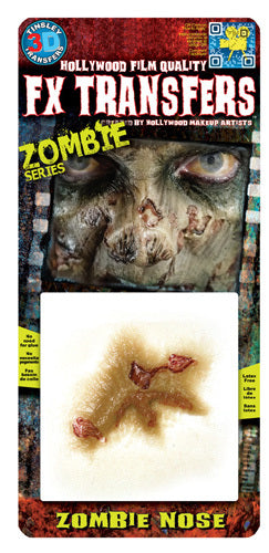 Zombie Nose 3D Transfers - Buy Online Only