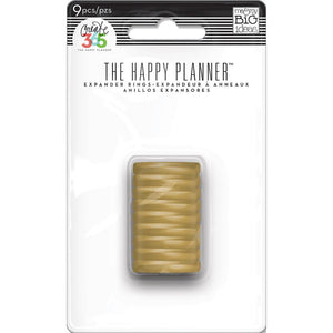 The Happy Planner Mini Discs - Gold 9 pcs