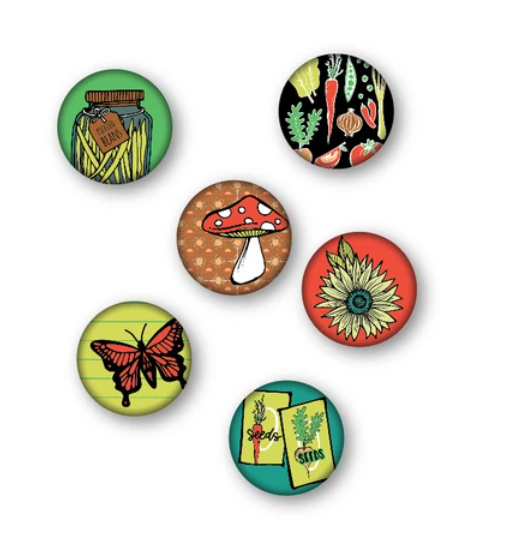 Wild Whisper Designs - Flair Buttons - Play in the Dirt - Garden Edition