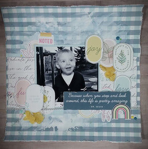 Take Away One Page Scrapbook kit - Lets Grow Together - KIT