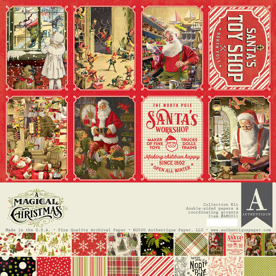 Authentique Paper - 12x12 Collection Kit - A Magical Christmas