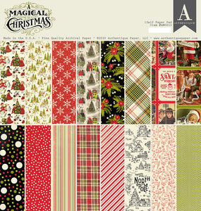 Authentique Paper - 12x12 Paper Pad - A Magical Christmas