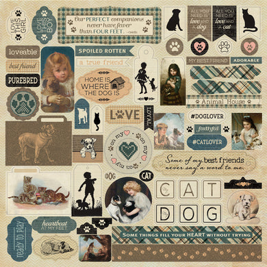Authentique Paper - 12x12 Sticker Sheet - Purebred